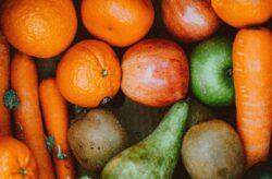 Früchte aus Bioanbau, pestizidfrei