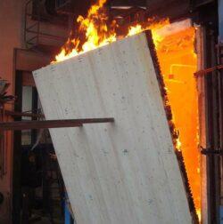 Bestnoten für Massivholz im Feuertest
