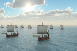 Römische Kriegsschiffe wurden stets aus Mondholz gefertigt